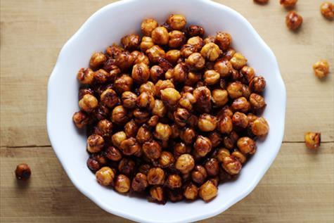 Orange-Spiced Roasted Chickpeas