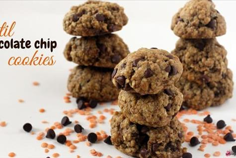Chocolate Chip-Lentil Cookies