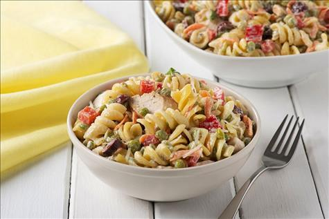 Turkey Rotini Split Pea Salad