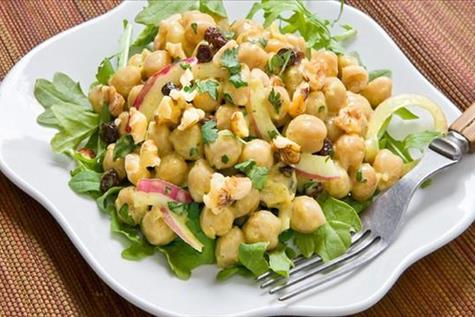 Curried Chickpea Salad with Walnuts & Currants