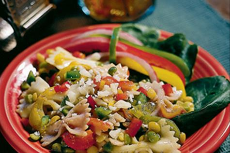 Pasta, Pea and Bell Pepper Salad